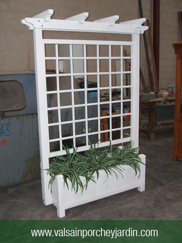 Jardinera de 120x50 con celosia alta - Jardineras con palets de madera ...