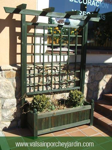 Jardinera de 120x50 con celosia alta - Celosia con jardinera ...