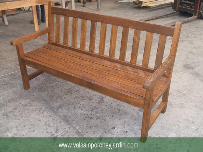Banco de pino valsain grande - Valsain porche y jardin ...