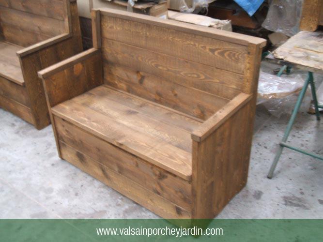 Banco ba l rustico - Banco baul madera ...