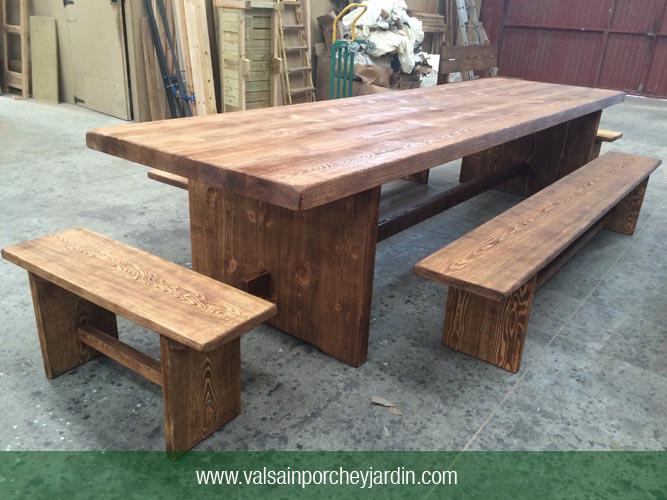 Mesa rustica de pino Valsain