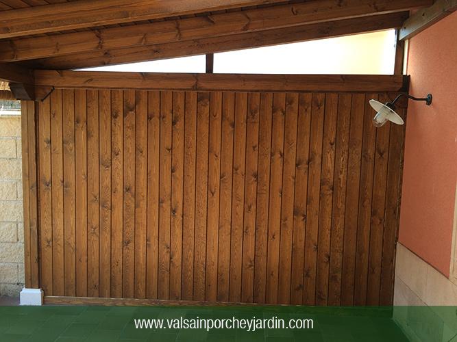 Cerramiento lateral de madera - Cerramiento de madera ...